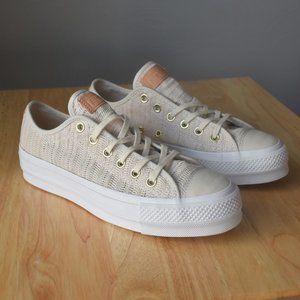 Converse Women's CTAS Lift OX Driftwood Sneakers 9